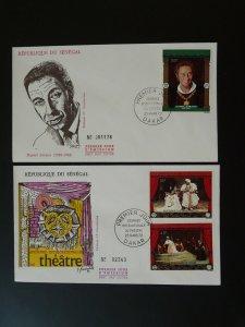 theater international day x2 FDC Senegal 81076