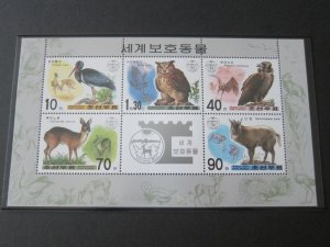 North Korea 2001 Sc 4168a Bird set MNH