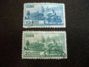 Stamps - Cuba - Scott# E24-E25 - Used Set of 2 Stamps
