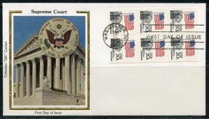 UNITED STATES COLORANO 1981 SUPREME COURT BOOKLET PANE  FIRST DAY COVER