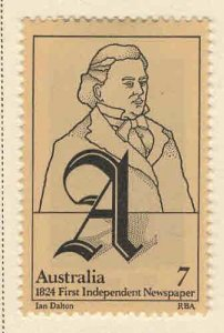 AUSTRALIA Scott 599 MH* 1974 Wentworth stamp