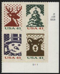 US 4210b Christmas Plate Block