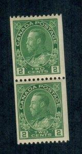Canada Sc#133 M/NH/F-VF, Coil Pair, Cv. $340