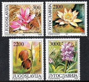 Yugoslavia MNH 1953-6 Flowering Plants Flowers 1989