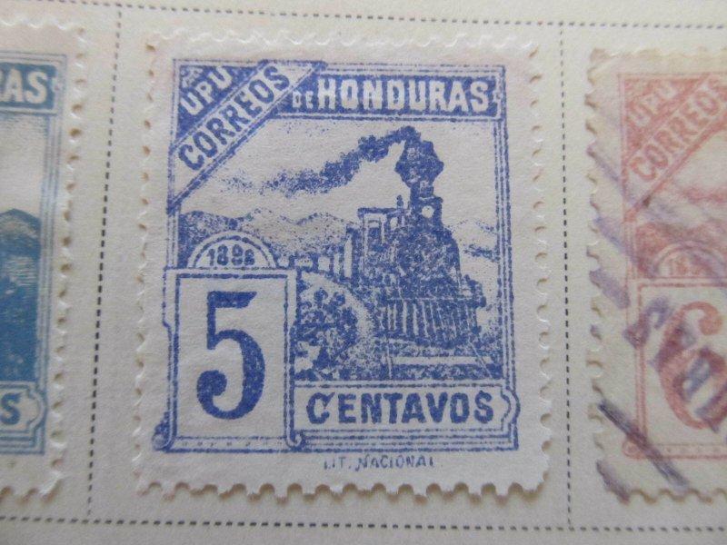 Honduras 1898 5c error fine mng stamp A11P12F31