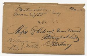 VA US STAMPLESS COVER LETTER Deatonsville DPO #5 (Pop 103) March 27, 1855