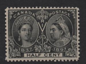 $Canada Sc#50 M/NH/VF, 1/2c Jubilee, AIEP Cert., Cv. $275