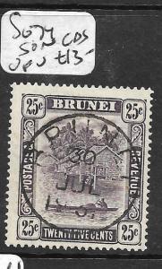 BRUNEI (PP0304B)  RIVER SCENE  25C  SG 74    SON CDS  VFU