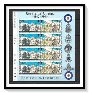Isle of Man #430-431 (v) Battle Of Britain Souvenir Sheet MNH