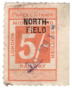 (I.B) London Midland & Scottish Railway : Parcel 5/- (Northfield)