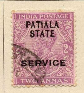 Patiala 1913-26 Early Issue Fine Used 2a. Optd 320102