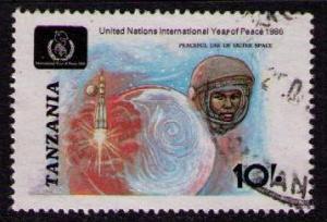 TANZANIA Sc# 353 USED FVF Space Peace Rocket  10sh