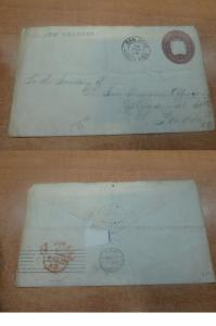 Costa Rica PSE 1899 10c to England, backstamps