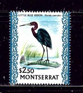 Montserrat 242 MLH 1970 Litle Blue Heron