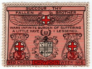 (I.B) Cinderella Collection: Croydon Red Cross Week 3d (1916)
