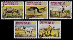 UPPER VOLTA 1972 WILDLIFE Sc #282-286 CPL SET 5 USED TOPICAL STAMPS CAT NICE LOT