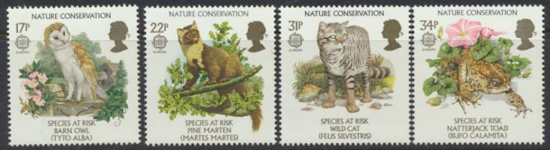 GB SG 1320 - 1323  SC# 1141-1144 Mint Never Hinged - Europa Nature Conservation
