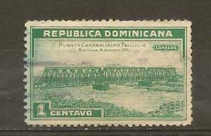 DOMINICAN REPUBLIC STAMP USED PUENTE GEN. TRUJILLO # WA51