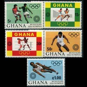 Ghana MNH 454-8 Munich Olympics 1972