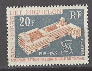COLLECTION LOT # 3124 SAINT PIERRE & MIQUELON #396 MNH 1969 CV+$10