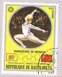 Burkina Faso C116 Used Gold medal Gymnastics 1972 (BP47510)
