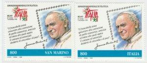1998 Congiunta Italia San Marino 2 Valori MNH** A20P6F249