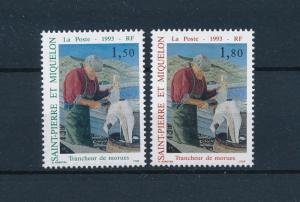[49063] Saint Pierre & Miquelon 1993 Fisherman cleaning fish MNH