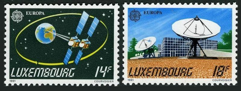 Luxembourg 851-852,MNH.Michel 1271-1272. EUROPE CEPT-1991.Space Research.