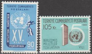 Turkey #1497-8 MNH F-VF (SU152L)
