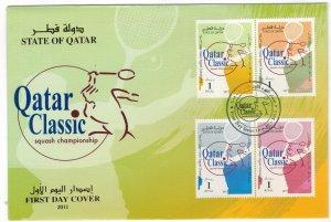 Qatar 2011 FDC Stamps Scott 1077 Sport Squash Championship
