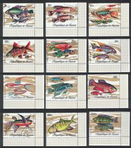Guinea Fish 12v Bottom Right Corners SG#729-740 MI#571-582A SC#570-581 CV£10+