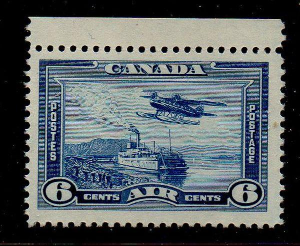 Canada Sc C6 1938 6c Airplane & Ship airmail stamp mint  NH