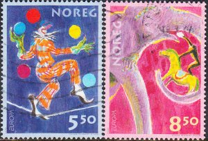 Norway #1338-1339 Used