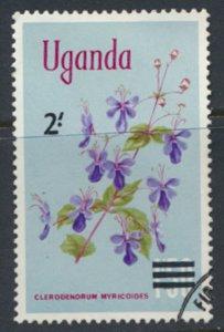 Uganda  SG 146  Used  1975 OPT Flowers  SC# 131  See scan
