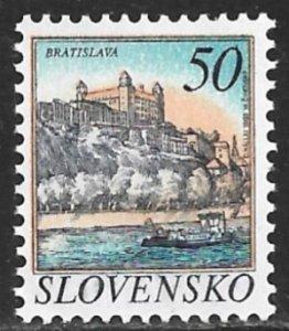 SLOVAKIA 1993-95 50k Bratislava Castle Issue Sc 157 MNH