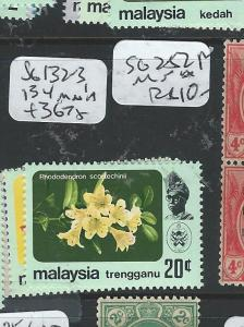 MALAYA TRENGGANU (P0906B) FLOWER SG132-3, 134  MNH