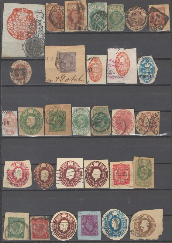COLLECTION LOT # 2377 GREAT BRITAIN 32 CUT SQUARE CLEARANCE