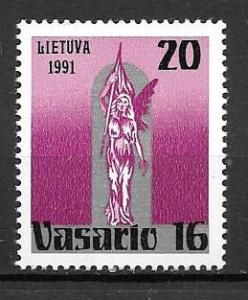 Lithuania 1991 Liberty Statue, Mint Never Hinged, Scott #388