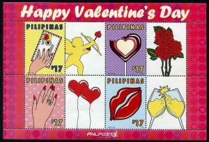 HERRICKSTAMP NEW ISSUES PHILIPPINES Valentines Day 2017 S/S