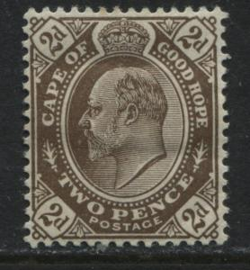 Cape of Good Hope 1904 KEVII 2d brown mint o.g.
