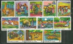 Guinea MNH 504-11,C101-4 African Legends SCV 12.85