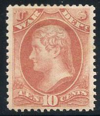 US Scott #O88 Mint, XF, Hinged