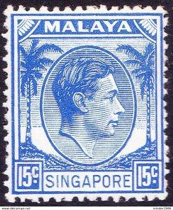 SINGAPORE 1948 KGVI 12c Ultramarine SG8 MH