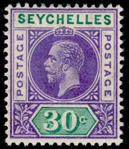 SEYCHELLES SG77, 30c violet & green, VLH MINT. Cat £12.
