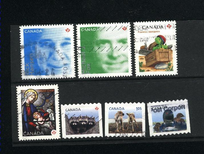 Canada # 2506-08,2544,2551,2553,2582  Used 2012 PD