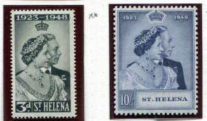 St. Helena 130 - 131 Silver Wedding MNH  Mint Never Hinged
