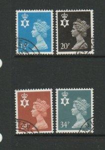 GB, Northern Ireland, 28.11.1989 15/20/24 &34p FU SG NI40/51/57 & 66
