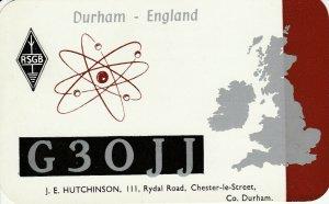 9697 Amateur Radio QSL Card DURHAM ENGLAND