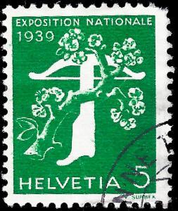 Switzerland 1939 Sc 264 Zu 236y uf plain paper