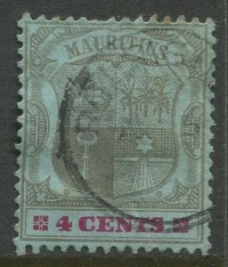 STAMP STATION PERTH Mauritius #100 Coat of Arms Used Wmk 2 - 1895 -1904